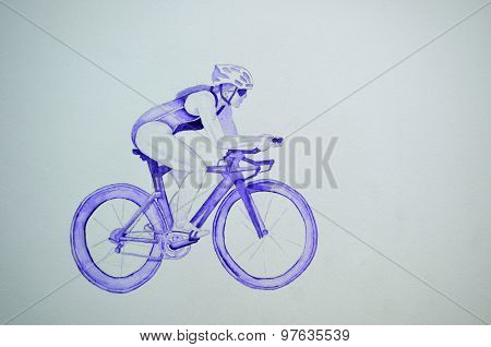 Female triathlete on Bicycle