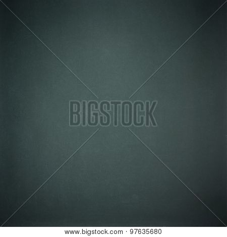 Green-black Blank Chalkboard For Background