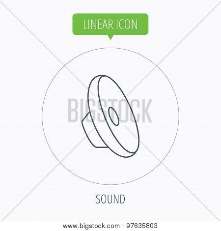 Sound icon. Audio speaker sign.