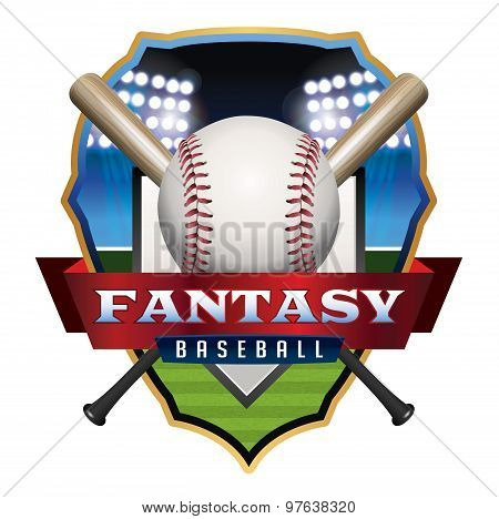 Fantasy Baseball Emblem Illustration