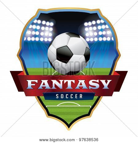 Fantasy Soccer Football Emblem Illustration