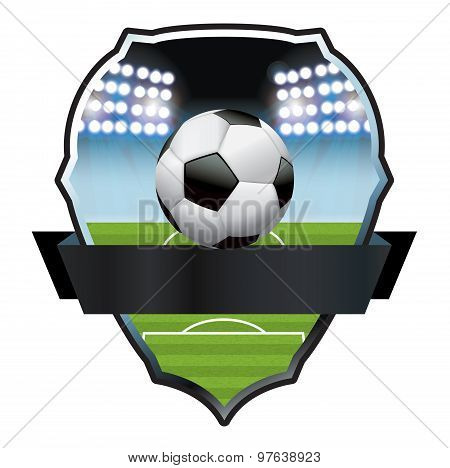 Soccer Football Field And Ball Illustration