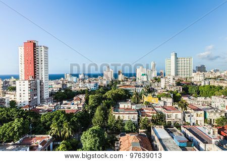 Vedado neighborhood in Havana, Cuba