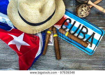 Cuban concept table of some related items