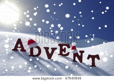 Advent Mean Christmas Time Snowflake Hat Sky