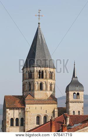 The abbey of Cluny in Burgundy