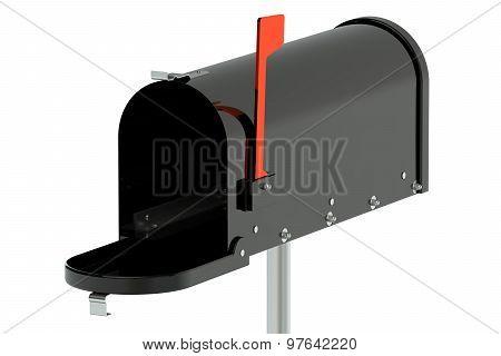 Black Opened Mailbox