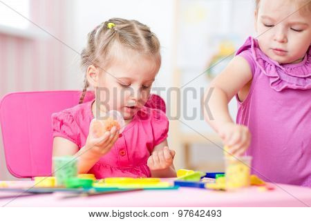 children making by hands
