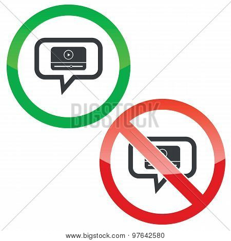 Mediaplayer message permission signs