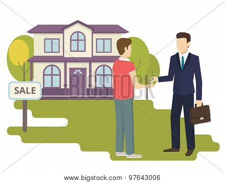 Young man is buying a new house