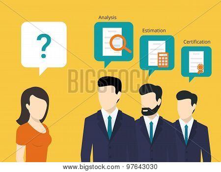 Professional consulting team