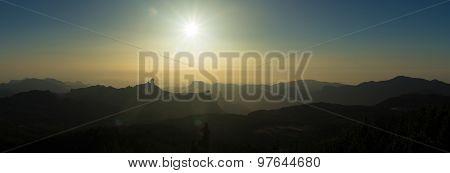Amazing Sunset Over Roque Nublo
