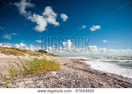 Baltic Sea Coastline in Nida, Latvia.