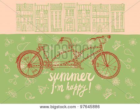 Summer Tandem Bicycle