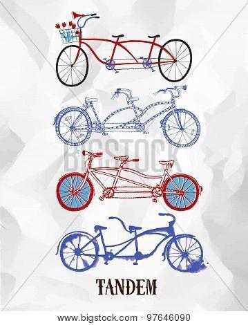 Tandem Bicycle Set