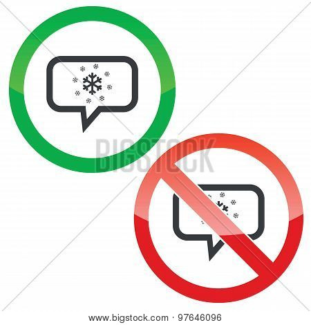 Snow message permission signs