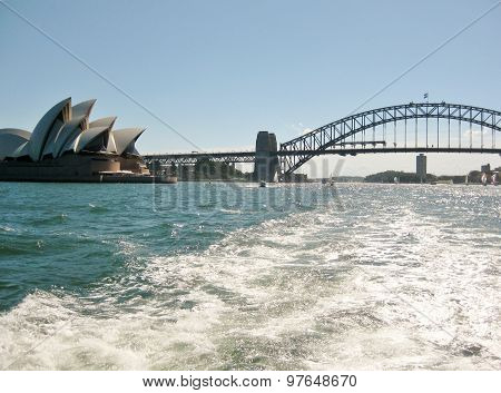 Sydney, NSW, Australia - June 2015: Sydney Harbour and Opera House