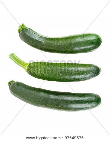 Fresh Courgettes On White Background