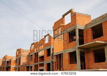 Detached house, construction site