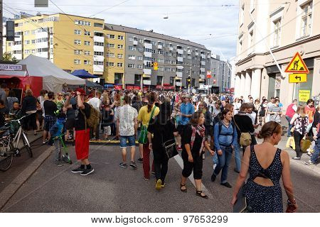 Fifth Kallio Block Party in Helsinki, Finland