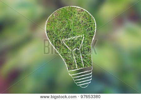 Lightbulb Made Of Grass