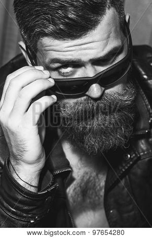 Portrait Of Attractive Biker