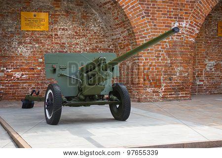 Anti-tank 57-mm Gun Zis-2 During The Second World War Outdoor Exhibition In N.novgorod