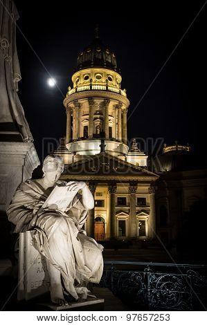 gendarmenmarkt, berlin at night - french dome