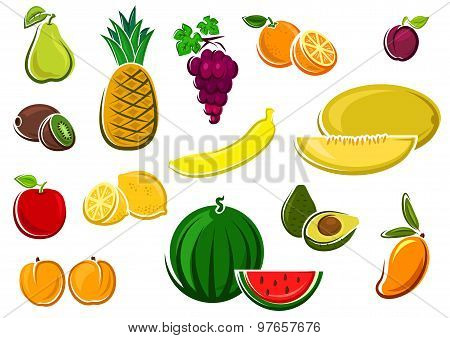 Juicy healthy fresh isolated fruits