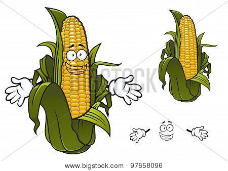 Cartoon sweet corn or maize vegetable