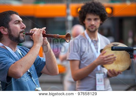 Piper During The Street Concert