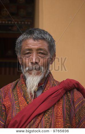 Bhutanese Old Man