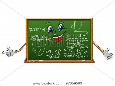 Cartoon funny board with mathematics