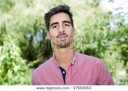 happy young casual man outdoor portrait