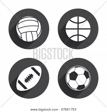 Sport balls. Volleyball, Basketball, Soccer.