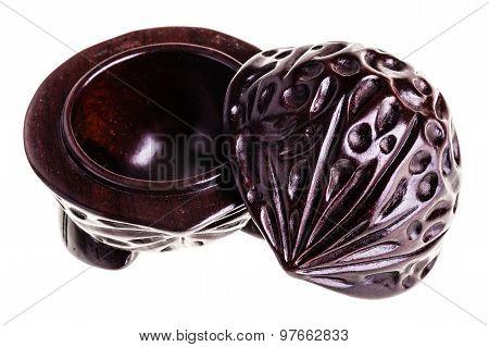 Japanese Fruit Shaped Wooden Open Casket