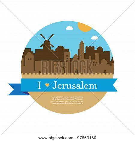skyline of old city of Jerusalem