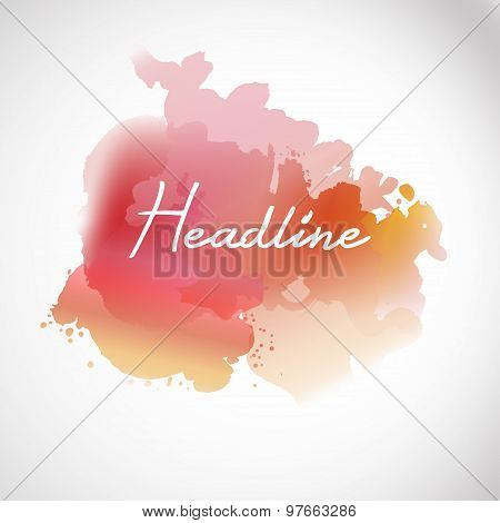 Headline watecrolor