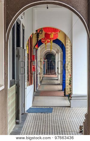 Archway In Street In Singapore