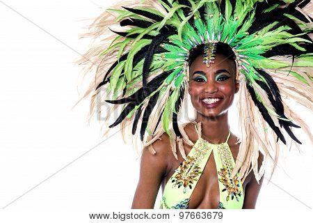 Closeup Of Woman Samba Dancer.