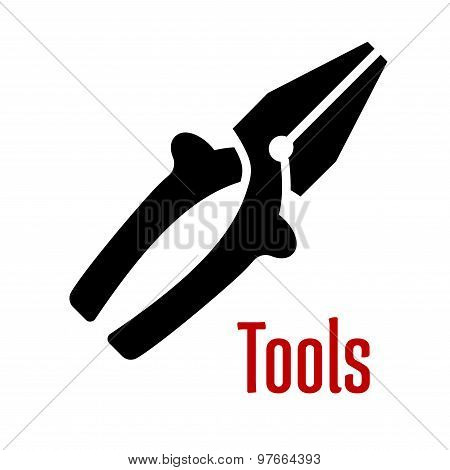 Pliers tool with wire cutter blades