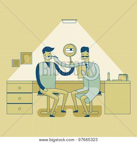 Dentist checkup teeth 's man