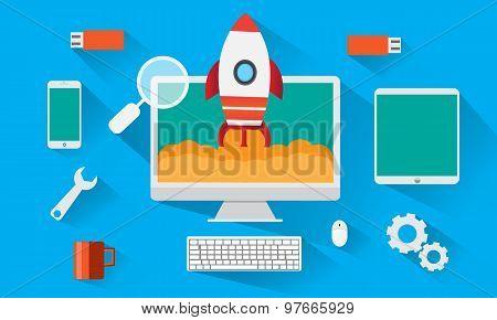 flat design technology