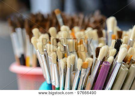 Close Up Hair Of Paintbrush.