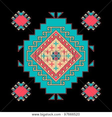 Abstract Composition With Ethnic Pattern . Vector File Is Eps8.