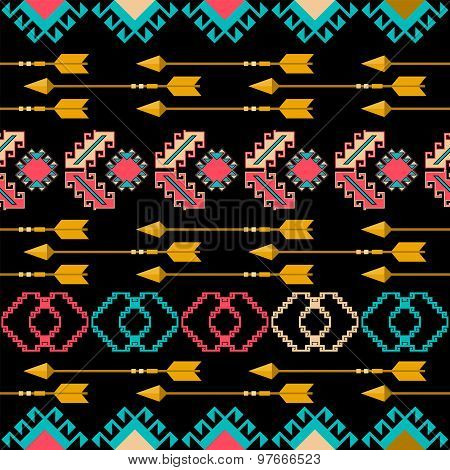 Tribal Ethnic Geometric Seamless Pattern . Vector Eps8 .