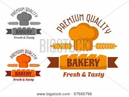 Brown and yellow bakery emblem