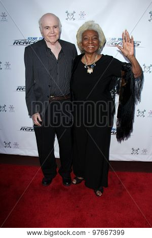 LOS ANGELES - AUG 1:  Walter Koenig, Nichelle Nichols at the
