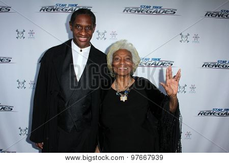 LOS ANGELES - AUG 1:  Tim Russ, Nichelle Nichols at the