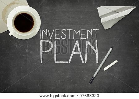 Investment plan concept